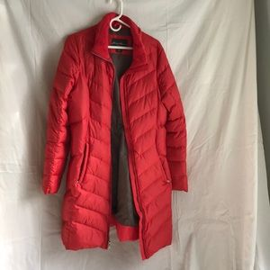 Eddie Bauer red Tall Large down coat